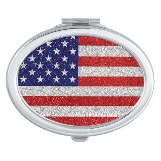 Grungy Usa Flag Vanity Mirror
