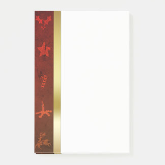 Grungy Vintage Gold Christmas - Post-it® Notes