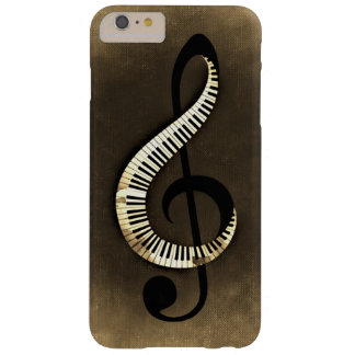 Grungy Vintage Piano Keys Treble Clef Barely There iPhone 6 Plus Case