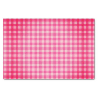Grungy Vintage Pink Gingham Checks Tissue Paper