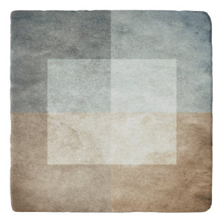 grungy watercolor-like graphic abstract trivet