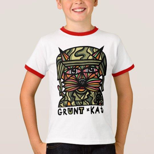 """""""Grunt Kat"""" Boys Ringer Shirt"""