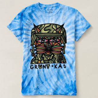 """""""Grunt Kat"""" Men's Cyclone Tie-Dye T-shirt"""