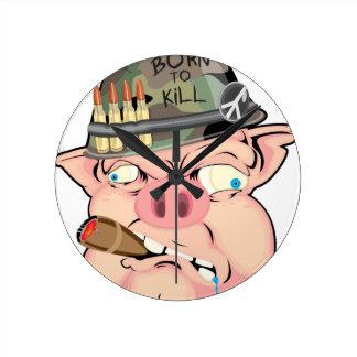 GRUNT PIG WALL CLOCK