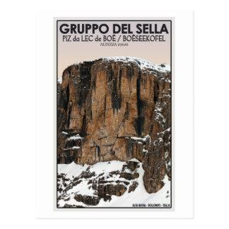 Gruppo Del Sella - Piz da Lec de Boe (CU) Postcard