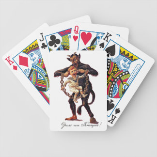 Gruss vom (Greetings From) Krampus Bicycle Playing Cards