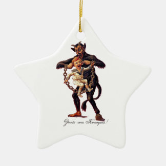 Gruss vom (Greetings From) Krampus Ceramic Ornament