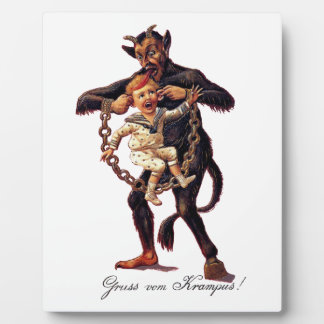 Gruss vom (Greetings From) Krampus Plaque