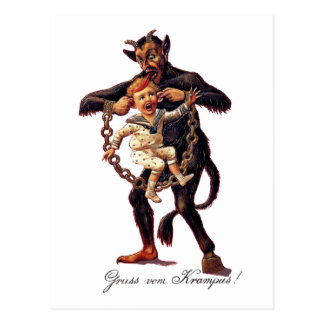 Gruss vom (Greetings From) Krampus Postcard