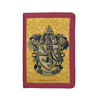Gryffindor Crest Gold and Red Trifold Wallets