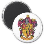 Gryffindor crest red and gold 2 inch round magnet