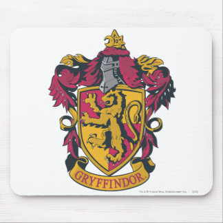 Gryffindor crest red and gold mouse pad