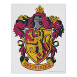 Gryffindor crest red and gold posters