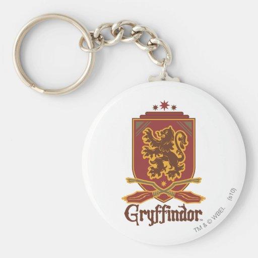 Gryffindor Quidditch Badge Basic Round Button Keychain