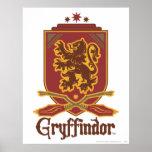 Gryffindor Quidditch Badge Poster