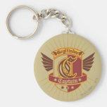 Gryffindor Quidditch Captain Emblem Basic Round Button Keychain