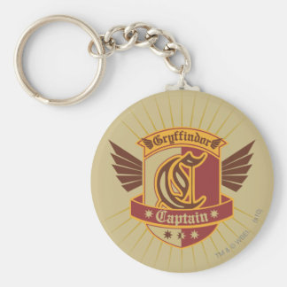 Gryffindor Quidditch Captain Emblem Basic Round Button Keychain