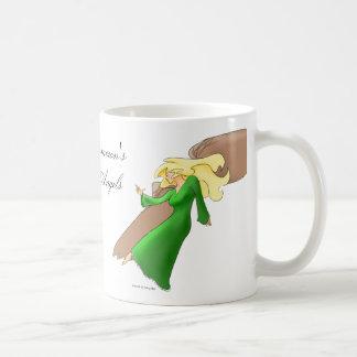 Gryffon et ange mug blanc