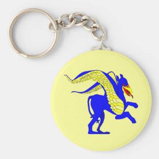 gryphon1 basic round button keychain