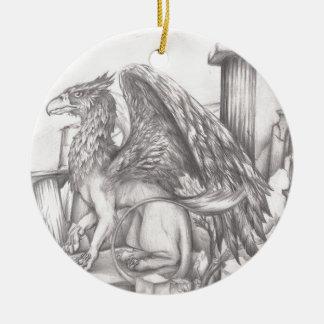 gryphon.jpg ceramic ornament