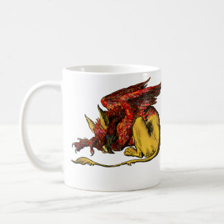 Gryphon  - Red: Coffee Mug