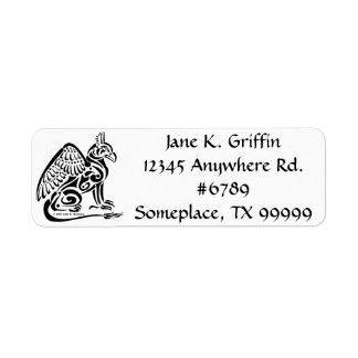 Gryphon Return Address Label
