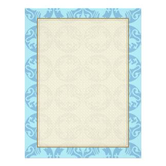 Gryphon Silhouette Pattern - Light Blue Full Colour Flyer