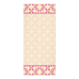 Gryphon Silhouette Pattern - Pink and Pale Yellow Custom Rack Card