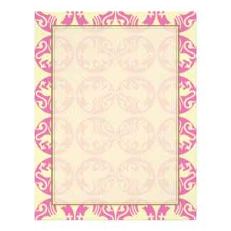 Gryphon Silhouette Pattern - Pink and Pale Yellow Flyer