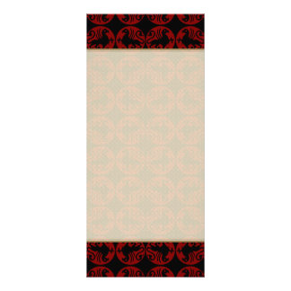 Gryphon Silhouette Pattern - Red and Black Rack Card