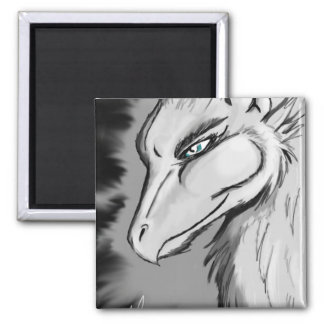Gryphon Square Magnet