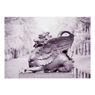 Gryphon statue poster