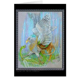 Gryphon & the Fairy Dragon Card