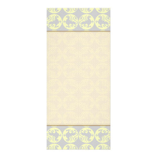 Gryphons Silhouette Pattern - Pale Yellow and Gray Rack Cards
