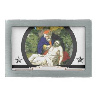 gs painting bible art belt buckle