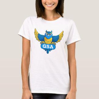 GSA Angry Blue Yellow Owl Logo Tee
