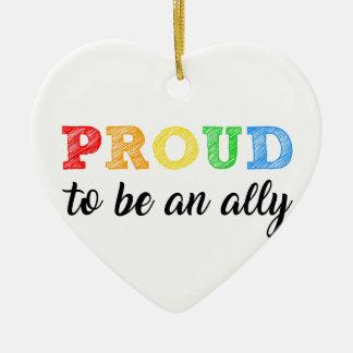 GSA - Gay Straight Alliance Ally Holiday Ornament