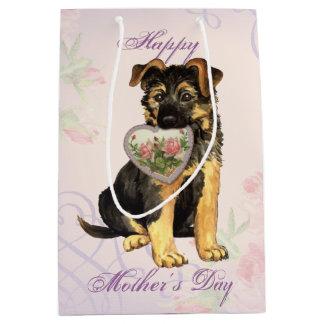 GSD Heart Mom Medium Gift Bag