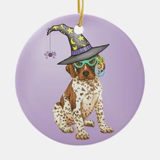GSP Witch Round Ceramic Ornament