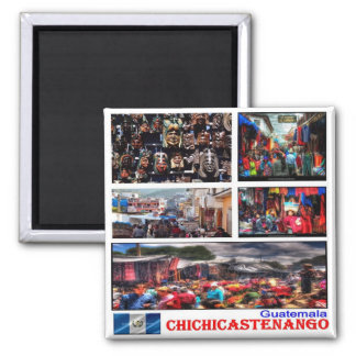 GT - Guatemala - Chichicastenango - Collage Mosaic Magnet