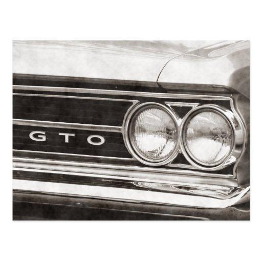 GTO Classic Car Post Card
