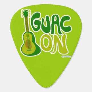 Guac On Guitar Pick