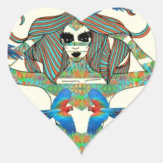 GUACAMAYA HEART STICKER