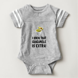 Guacamole Is Extra Baby Bodysuit