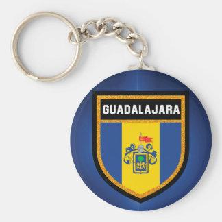 Guadalajara Flag Basic Round Button Keychain
