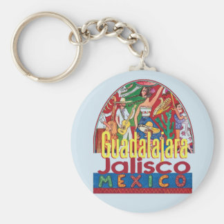 GUADALAJARA Mexico Basic Round Button Keychain