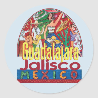 GUADALAJARA Mexico Classic Round Sticker