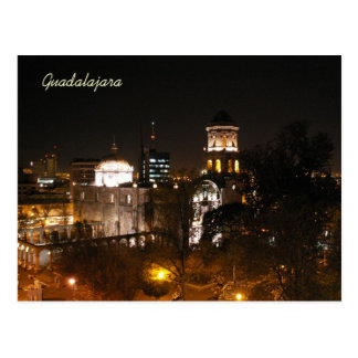 Guadalajara Night Scene Postcard