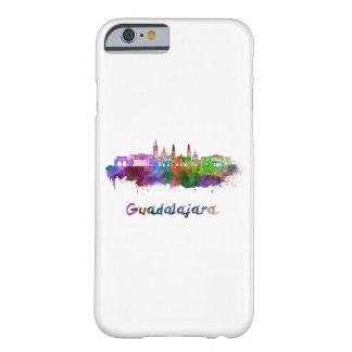 Guadalajara skyline in watercolor barely there iPhone 6 case