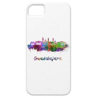 Guadalajara skyline in watercolor iPhone 5 cases